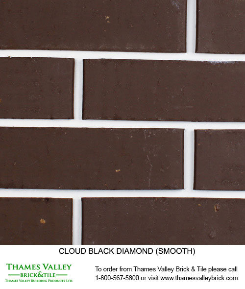 Black Diamond - Cloud Ceramics Facebrick - black brick