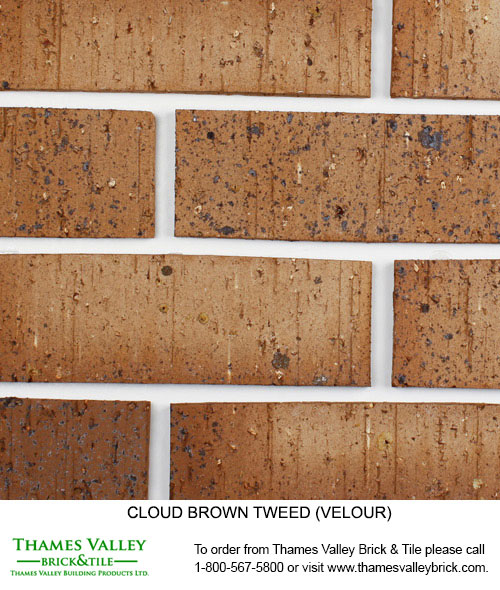 Browntweed - Cloud Ceramics Facebrick - Brown Brick