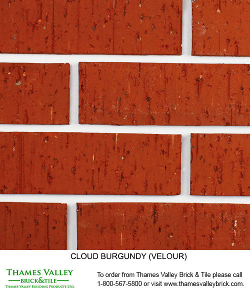 Burgundy - Cloud Ceramics Facebrick - Red Brick
