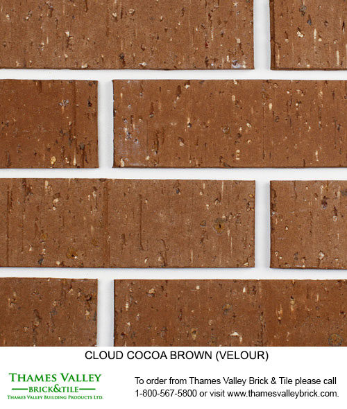 Cocoa - Cloud Ceramics Facebrick - Brown Brick