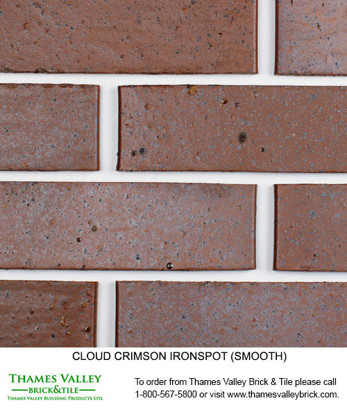 Crimson Ironspot - Cloud Ceramics Facebrick - Red Brick