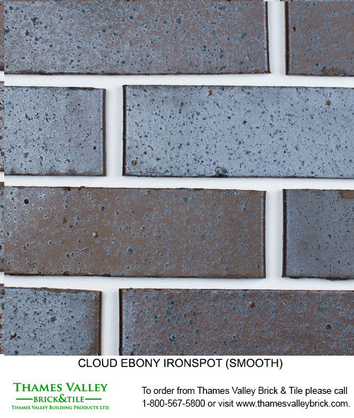 Ebony Ironspot - Cloud Ceramics Facebrick - black brick
