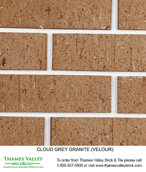 Grey Granite - Cloud Ceramics Facebrick - Grey Brick