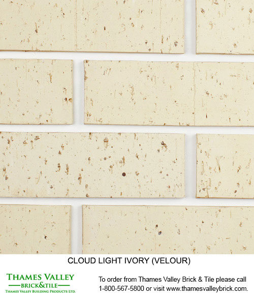 Light Ivory - Cloud Ceramics Facebrick - white brick