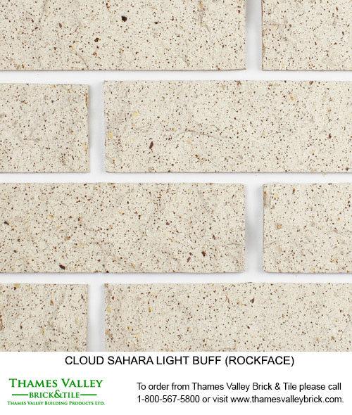 Sahara Light Buff - Cloud Ceramics Facebrick - white brick