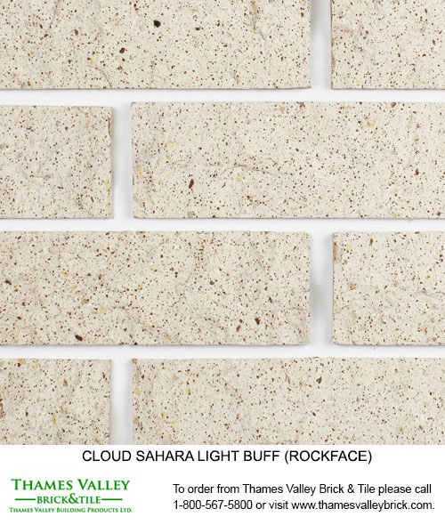 Sahara Light Buff - Cloud Ceramics Facebrick - white brick