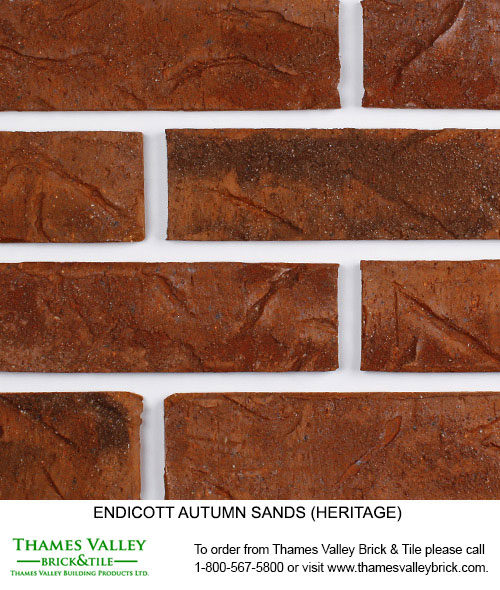 Autumn Sands Heritage - Endicott Facebrick - Red Brick