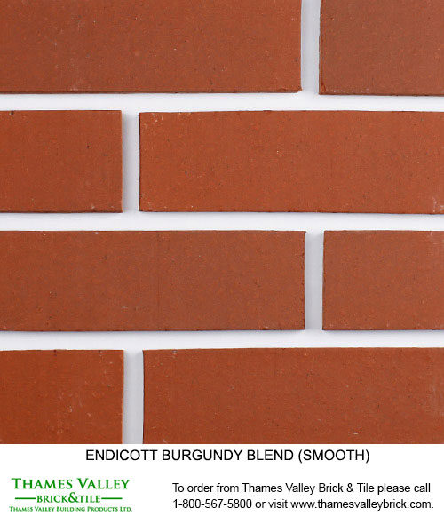 Burgundy Blend - Endicott Facebrick - Red Brick