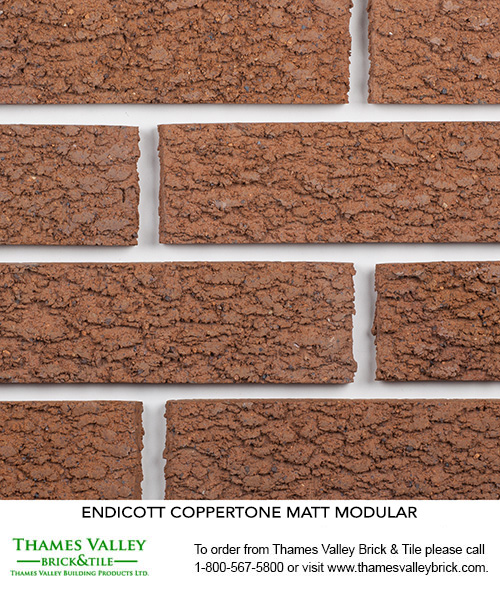 Coppertone - Endicott Facebrick - buff, tan, brown brick