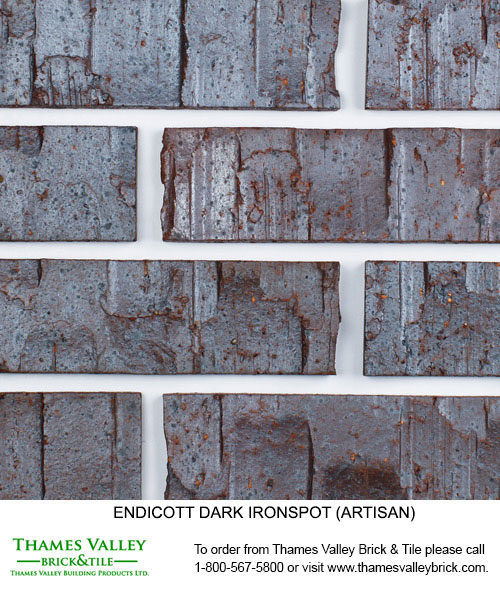 Dark Ironspot - Endicott Facebrick - black brick