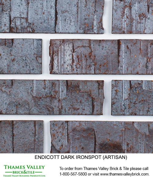 Dark Ironspot - Endicott Facebrick - black brick