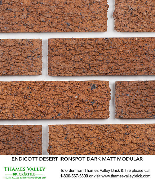 Desert Ironspot (L-D) - Endicott Facebrick - buff, tan, brown brick
