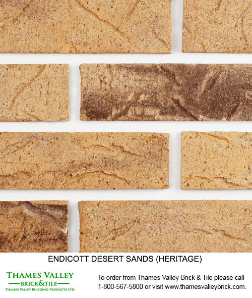 Desert Sands Heritage - Endicott Facebrick - Buff tan brick