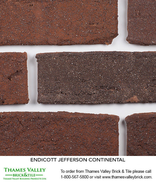 Continental - Endicott Facebrick - Red Brick