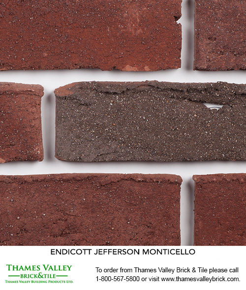 Monticello - Endicott Facebrick - Red Brick