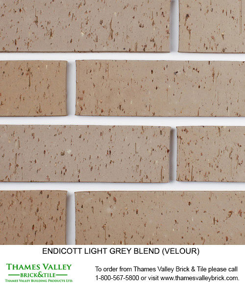 Light Grey Blend - Endicott Facebrick - Grey Brick