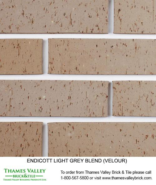 Light Grey Blend - Endicott Facebrick - Grey Brick