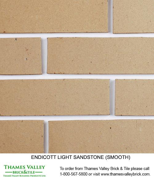 Sandstone (L-D) - Endicott Facebrick - buff, tan, brown brick