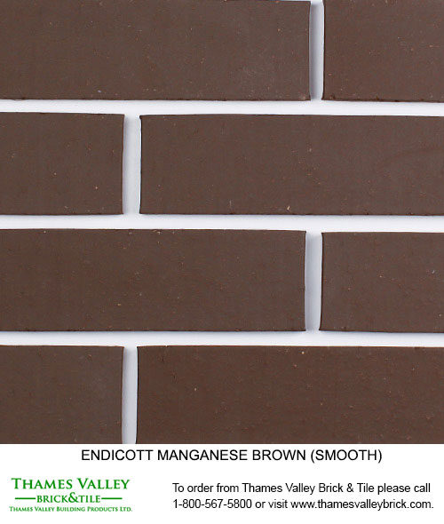 Manganese Brown - Endicott Facebrick - Brown Brick