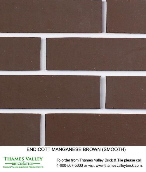 Manganese Brown - Endicott Facebrick - Brown Brick