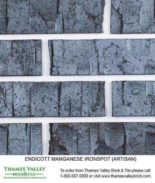 Manganese Ironspot - Endicott Facebrick - black brick