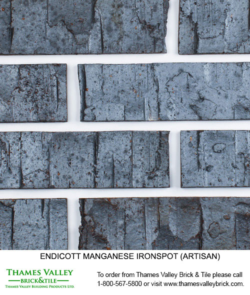 Manganese Ironspot - Endicott Facebrick - black brick