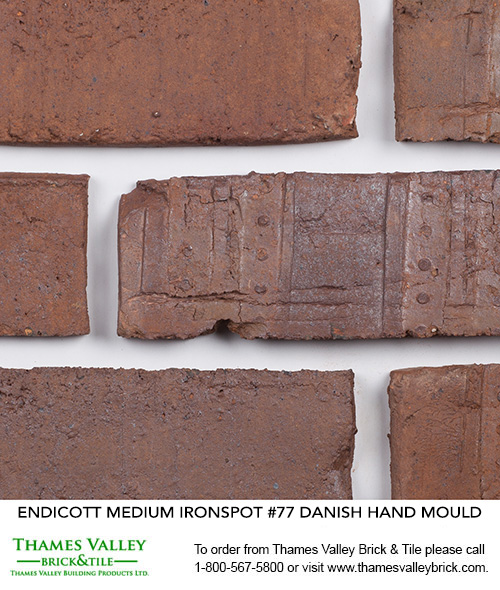 Medium Ironspot #77 - Endicott Facebrick - Brown Brick