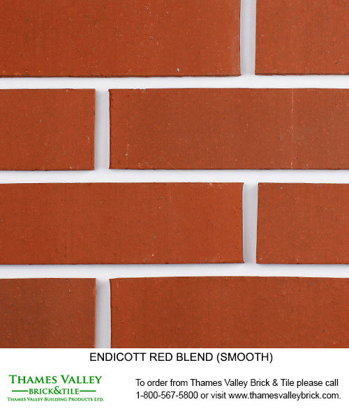 Red Blend - Endicott Facebrick - Red Brick
