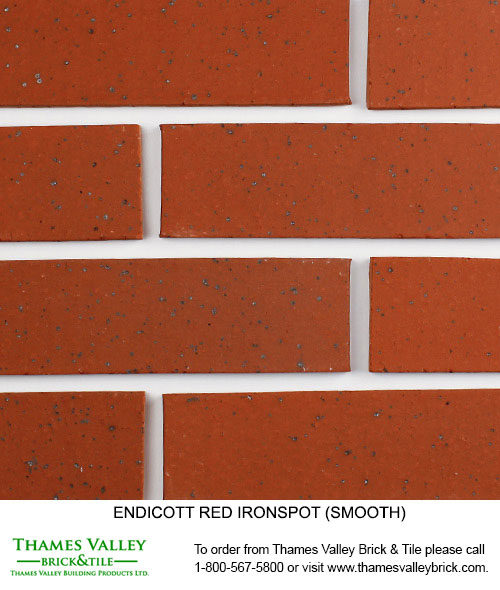 Red Ironspot - Endicott Facebrick - Red Brick