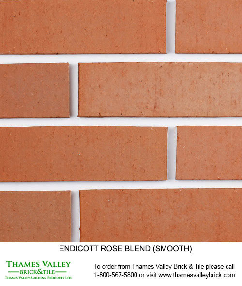 Rose Blend - Endicott Facebrick - Coral Rose, Red Brick