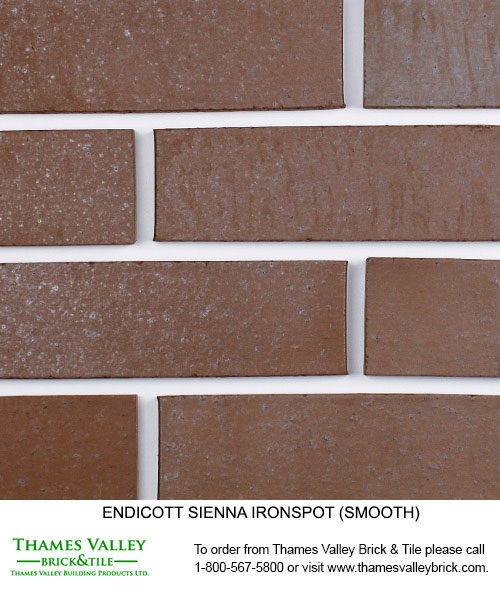 Sienna Ironspot - Endicott Facebrick - Brown Brick