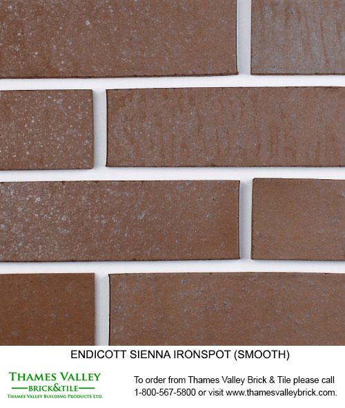Sienna Ironspot - Endicott Facebrick - Brown Brick