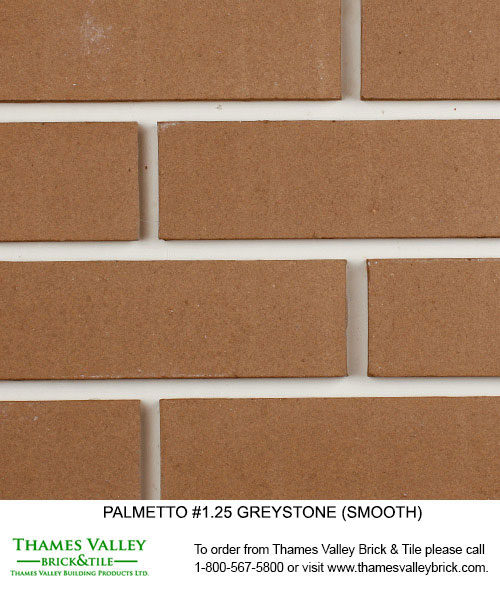 Greystone 1.25 - Palmetto Facebrick - grey brick