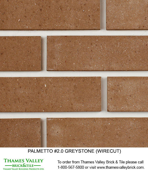 Greystone 2.0 - Palmetto Facebrick - grey brick