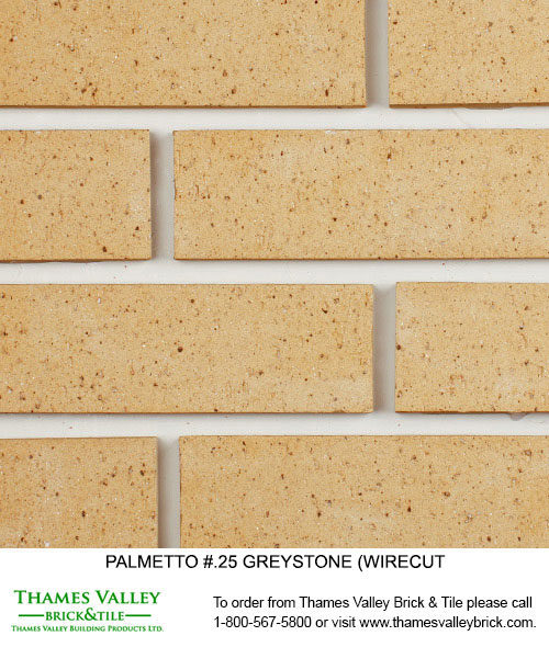 Greystone.25 - Palmetto Facebrick - buff tan brick, grey brick