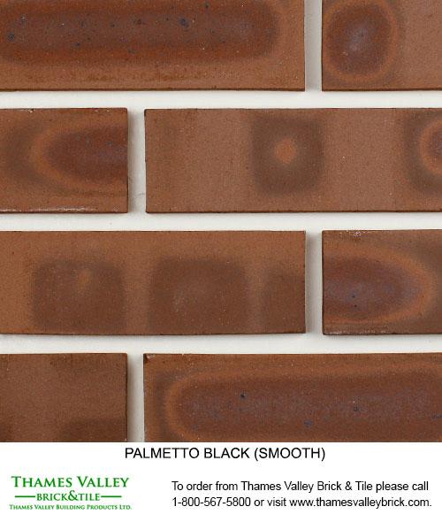 Black Smooth - Palmetto Facebrick - Brown Brick