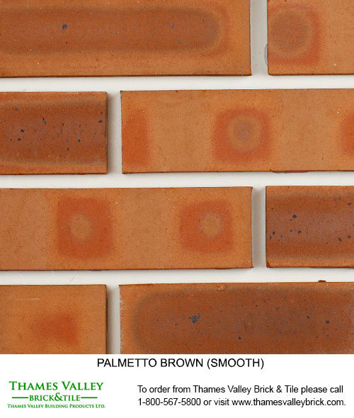 Brown Smooth - Palmetto Facebrick - Brown Brick