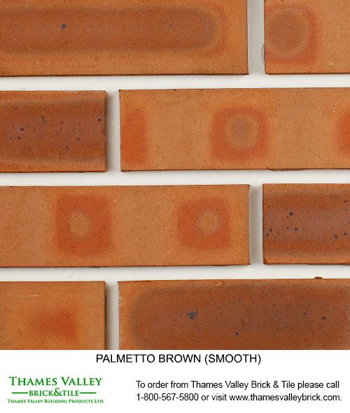 Brown Smooth - Palmetto Facebrick - Brown Brick