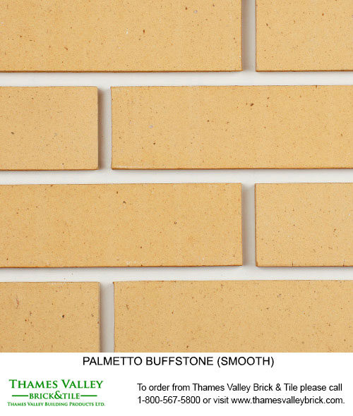 Buffstone Wirecut - Palmetto Facebrick - Buff tan brick
