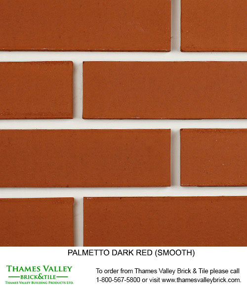 Dark Red Smooth - Palmetto Facebrick - Red Brick