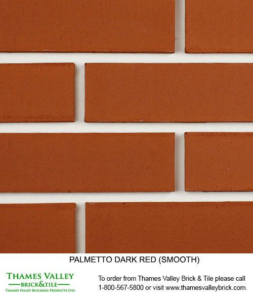 Dark Red Smooth - Palmetto Facebrick - Red Brick