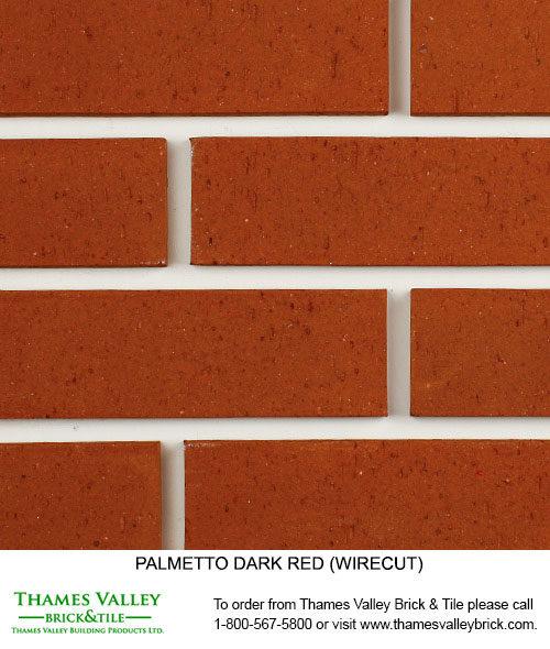 Dark Red Wirecut - Palmetto Facebrick - Red Brick