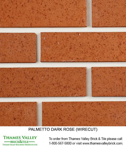 Dark Rose - Palmetto Facebrick - Coral Rose Brick