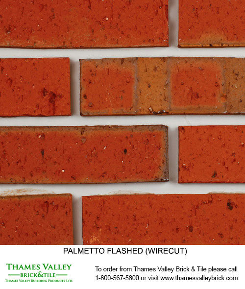 Flashed Smooth & Wirecut - Palmetto Facebrick - Red Brick