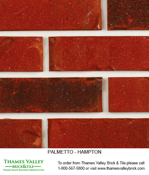 Hampton - Palmetto Facebrick - red brick