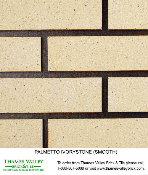 Ivorystone Wirecut - Palmetto Facebrick - Buff tan brick