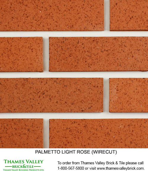 Light Rose - Palmetto Facebrick - Coral Rose Brick