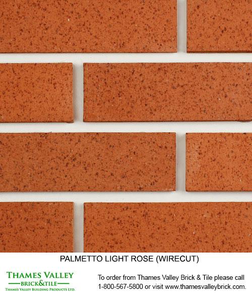 Light Rose - Palmetto Facebrick - Coral Rose Brick