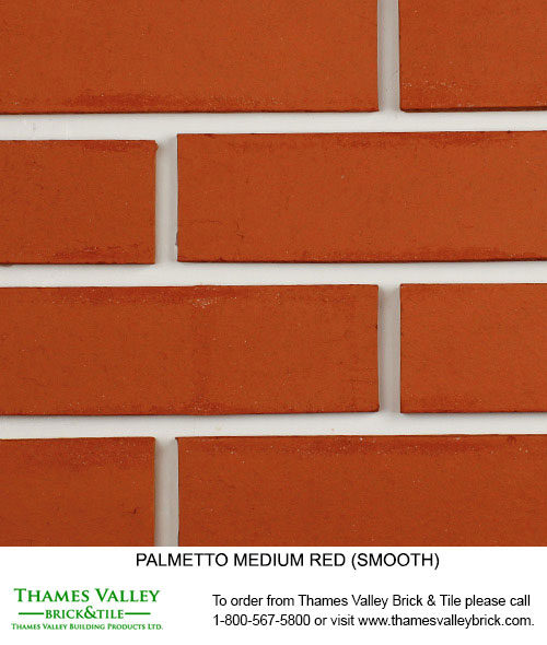 Medium Red Smooth & red Scratch - Palmetto Facebrick - Red Brick