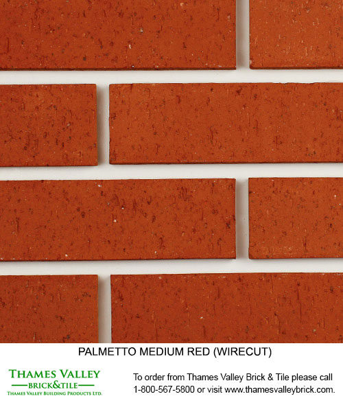 Medium Red Wirecut - Palmetto Facebrick - Red Brick